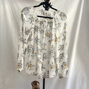 Lucky Brand White Long Sleeve Blouse